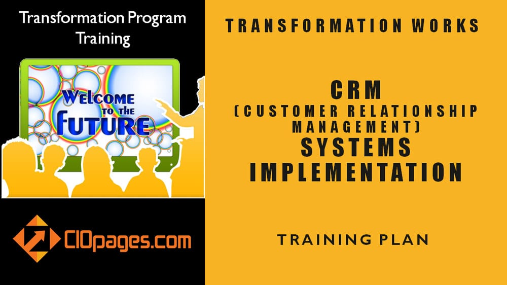 CRM Transformation Training Plan