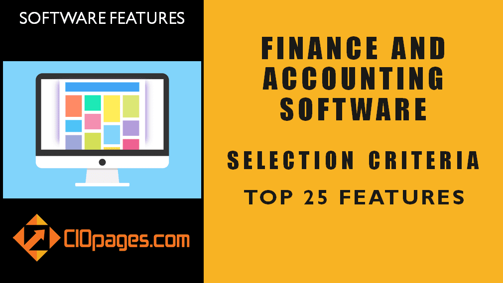 Finance Transformation Software Top 50 Features