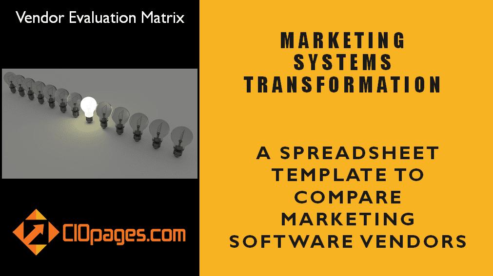 Marketing Software Vendor Evaluation Matrix