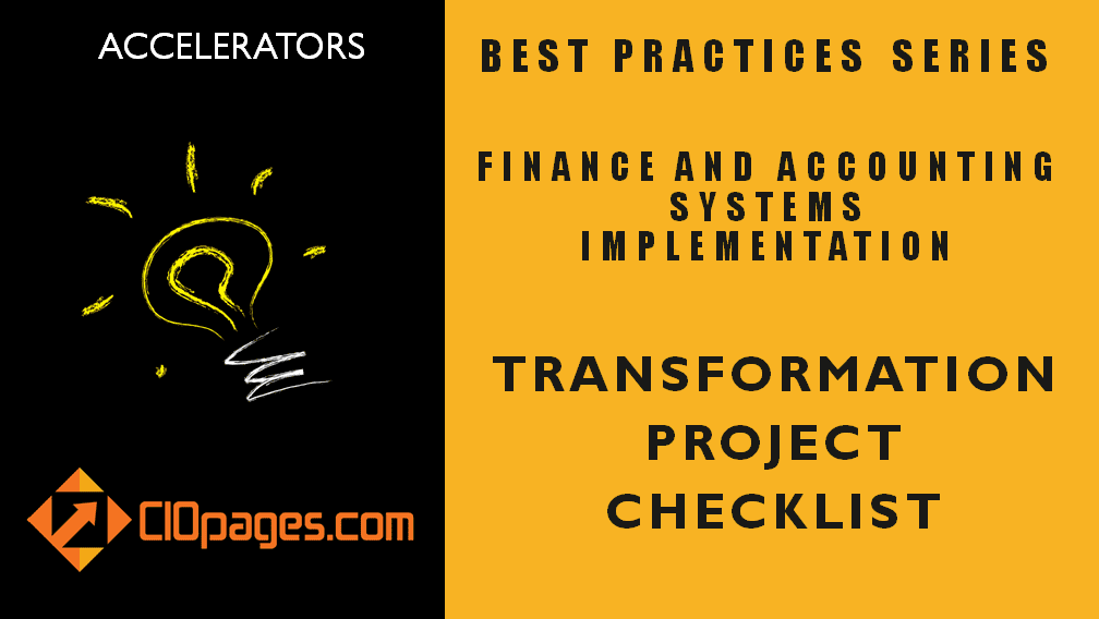 Finance Transformation Project Checklist