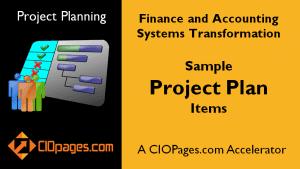 Finance Transformation Project Plan