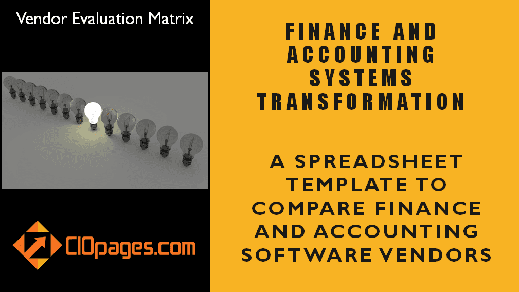 Finance Transformation Software Vendor Evaluation Matrix