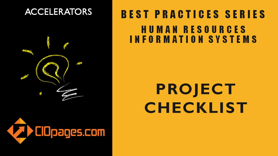 HR Transformation Project Checklist