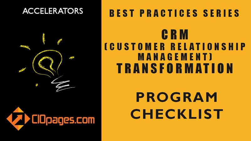 CRM Transformation Project Checklist