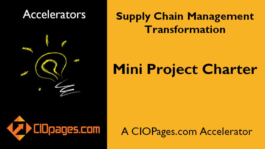 Supply Chain Transformation Mini Project Charter