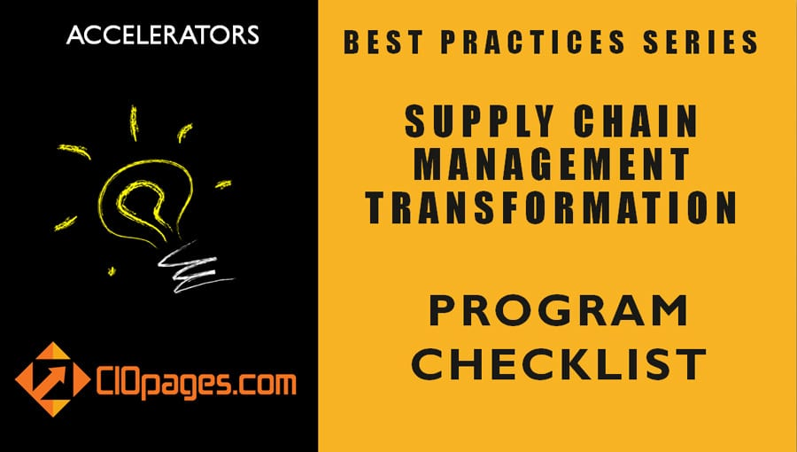 Supply Chain Transformation Project Checklist