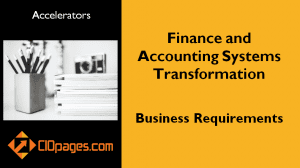Finance Transformation Business Requirements