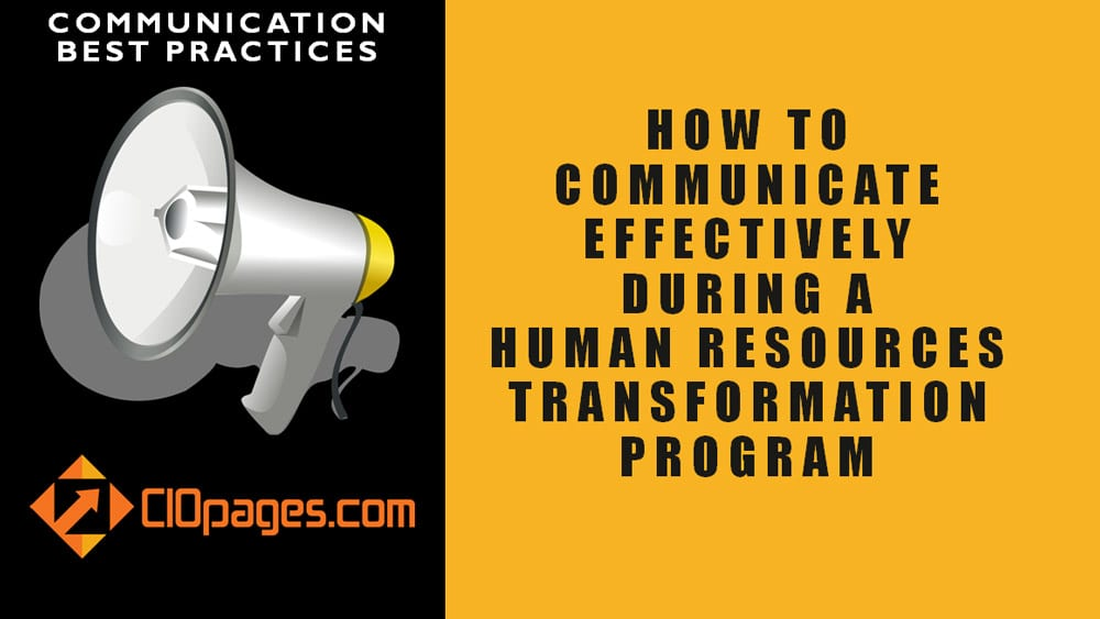 HR Transformation Communications Best Practices