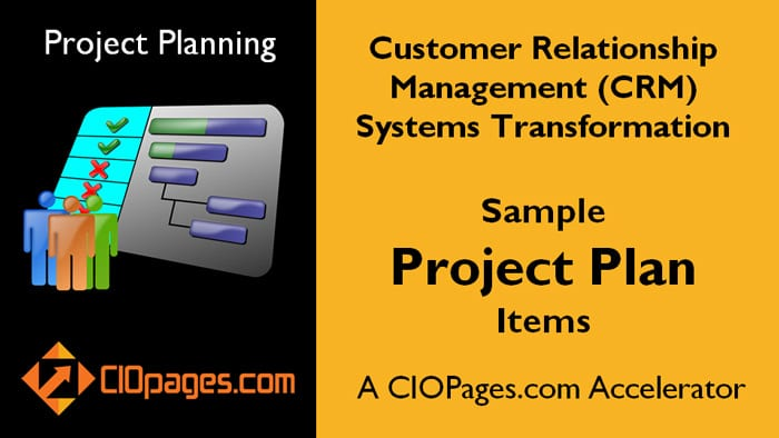 CRM Software Implementation - Customizable Project Plans