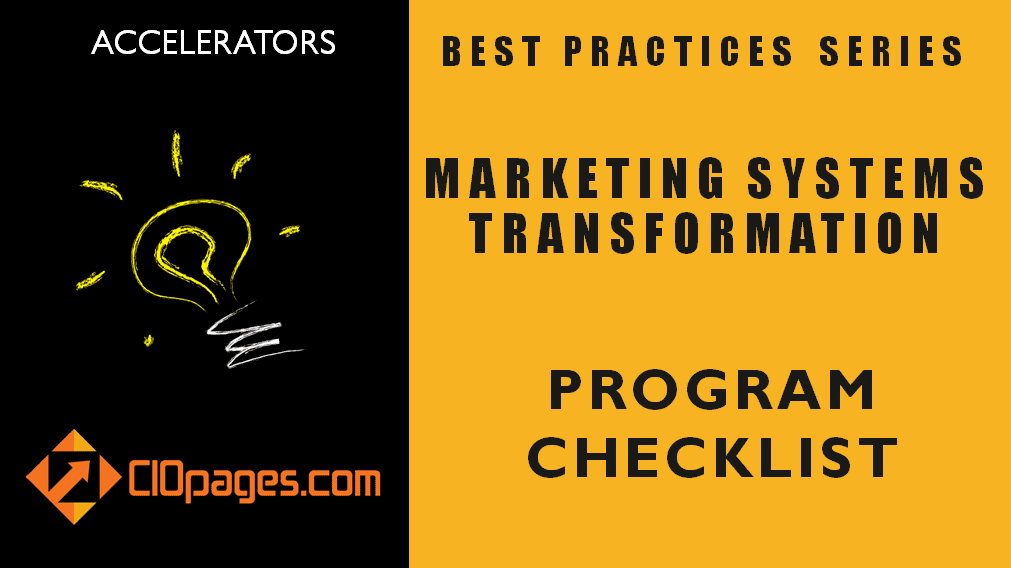 Marketing Transformation Project Checklist