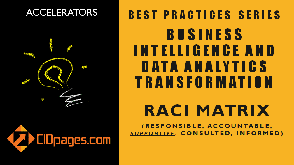 RACI Matrix – Business Intelligence and Data Analytics Project Implementation