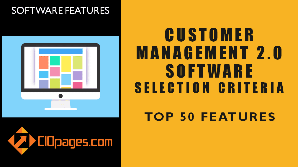 Customer Management Software Top 50 Features