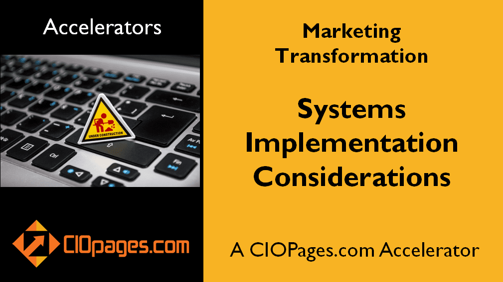 Marketing Transformation Implementation Considerations