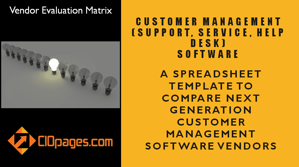 Customer Management Software Evaluation Matrix