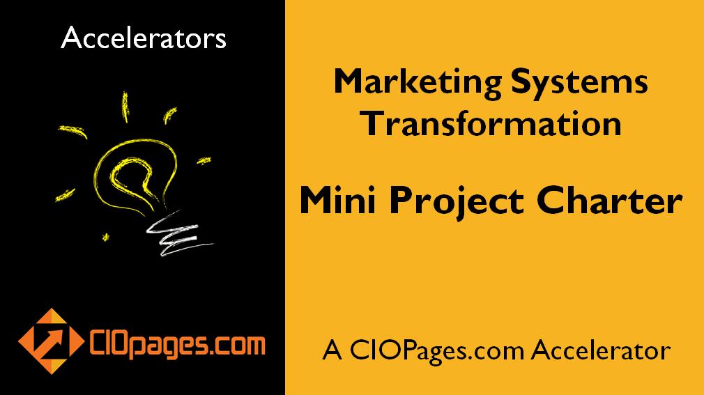 Marketing Transformation Mini Project Charter