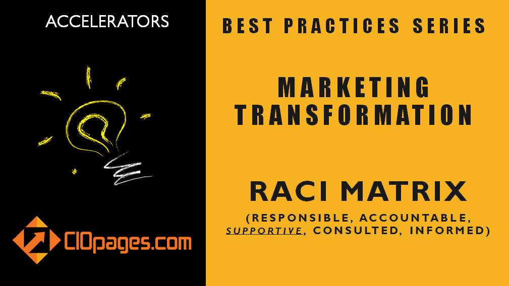 Marketing Transformation Project RACI Matrix