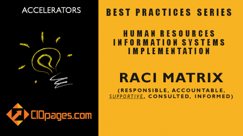 HR Transformation Project RACI Matrix