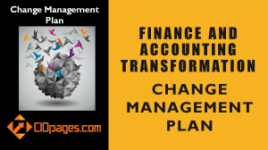Finance and Accounting Transformation Change Management Plan