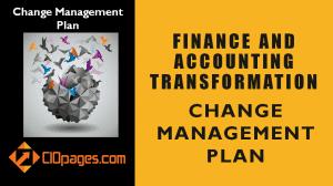 Finance Transformation Change Management Plan