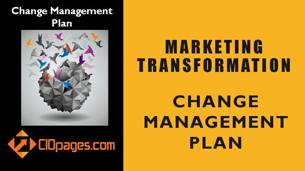 Marketing Transformation Change Management Plan