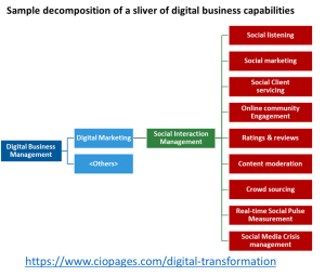 Digital business capabilities - sample decomposition