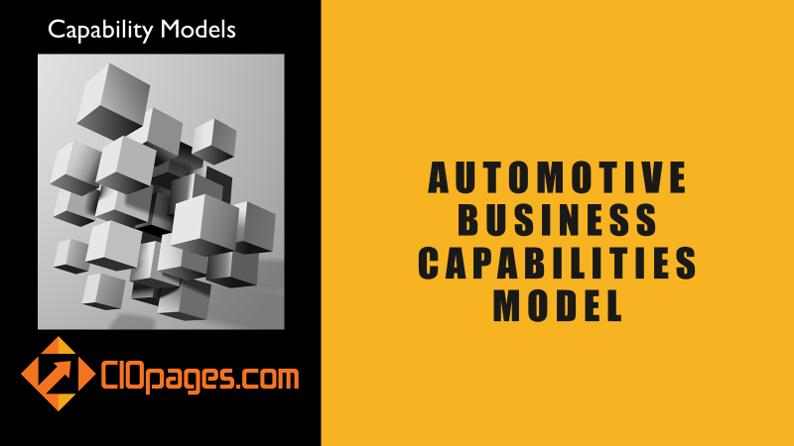 Automotive Business Capabilities Model